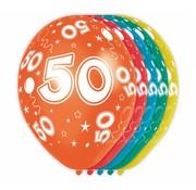 Verjaardag Ballonnen 50 jaar 30 cm - 5 stuks
