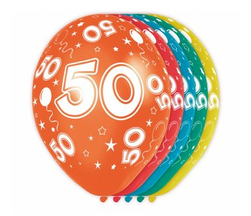 Verjaardag Ballonnen 50 jaar 30cm - 5 stuks