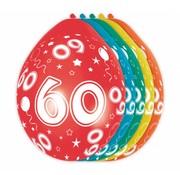 Verjaardag Ballonnen 60 jaar 30 cm - 5 stuks