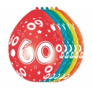 Verjaardag Ballonnen 60 jaar - 5 stuks