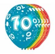Verjaardag Ballonnen 70 jaar 30 cm - 5 stuks