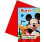 Disney Mickey Mouse Uitnodigingen - 6 stuks