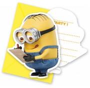 Disney Minions Uitnodigingen - 6 stuks