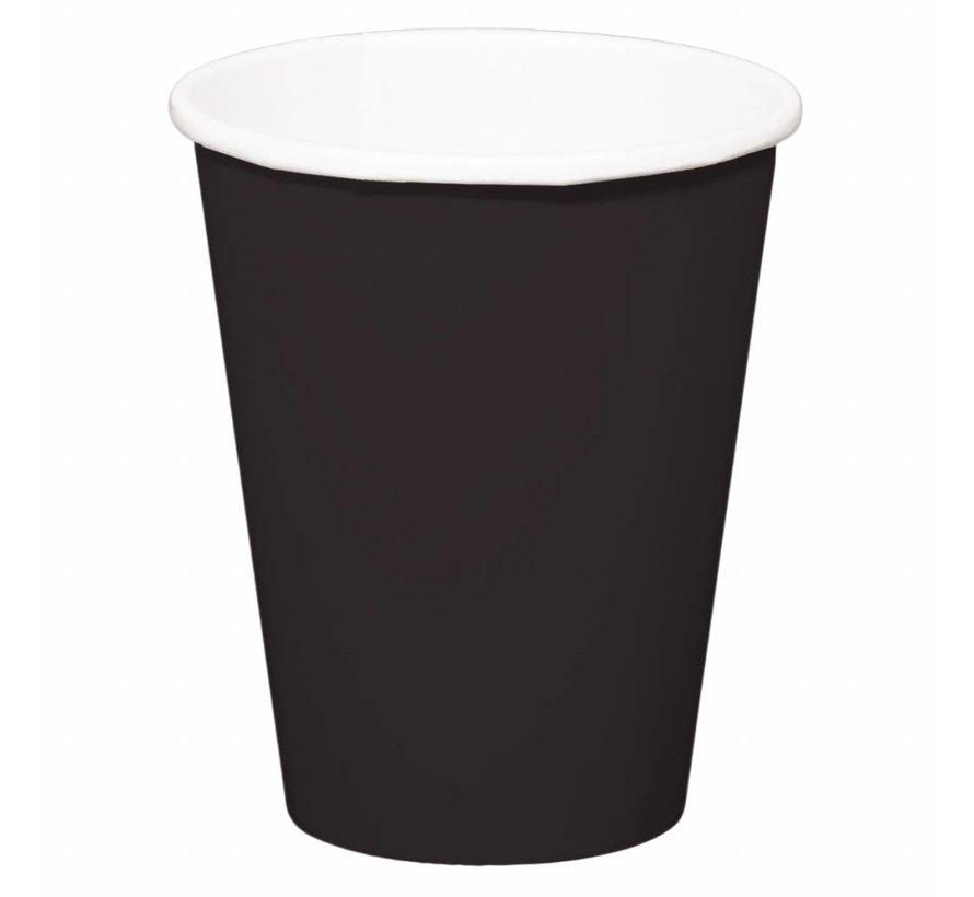 Wegwerp Bekertjes Zwart - 8 stuks