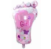 Folie Ballon It s a Girl Foot - per stuk