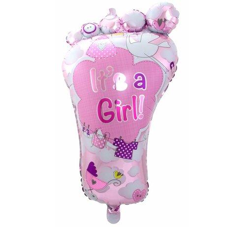 Folie Ballon It s a Girl Foot 86cm - per stuk