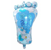 Folie Ballon It s a Boy Foot 86cm - per stuk