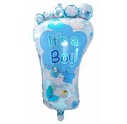 Folie Ballon It s a Boy Foot - per stuk