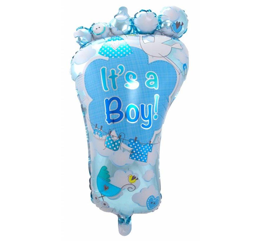 Folie Ballon It s a Boy Foot 86cm - per stuk