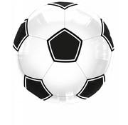 Folie Ballon Voetbal Zwart/Wit 43cm - per stuk