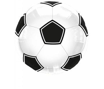 Folie Ballon Voetbal Zwart/Wit - per stuk