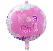 Folie Ballon It s a Girl 43cm - per stuk