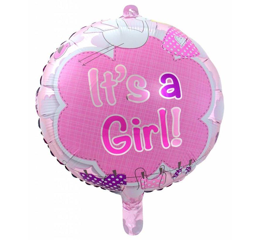 Folie Ballon It s a Girl 43cm - per stuk