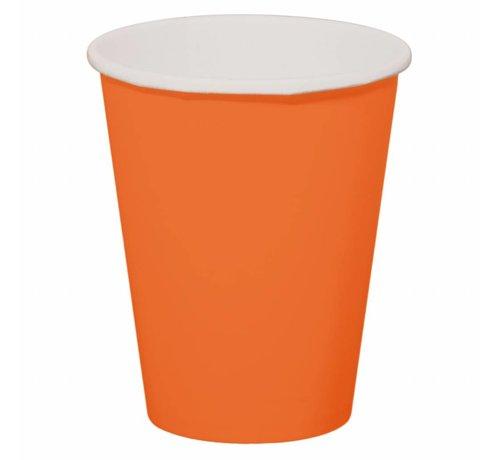 Beerpong Bekers Oranje - 8 stuks