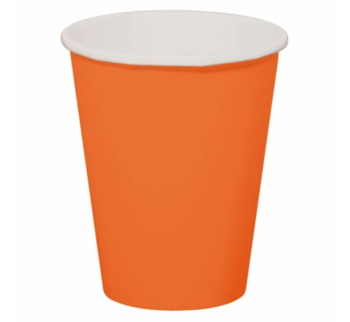 Wegwerp Bekertjes Oranje - 8 stuks