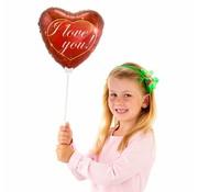 Folie Ballon I Love You Hart 23cm - per stuk