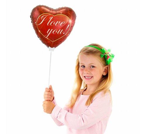 Folie Ballon I Love You Hart - per stuk