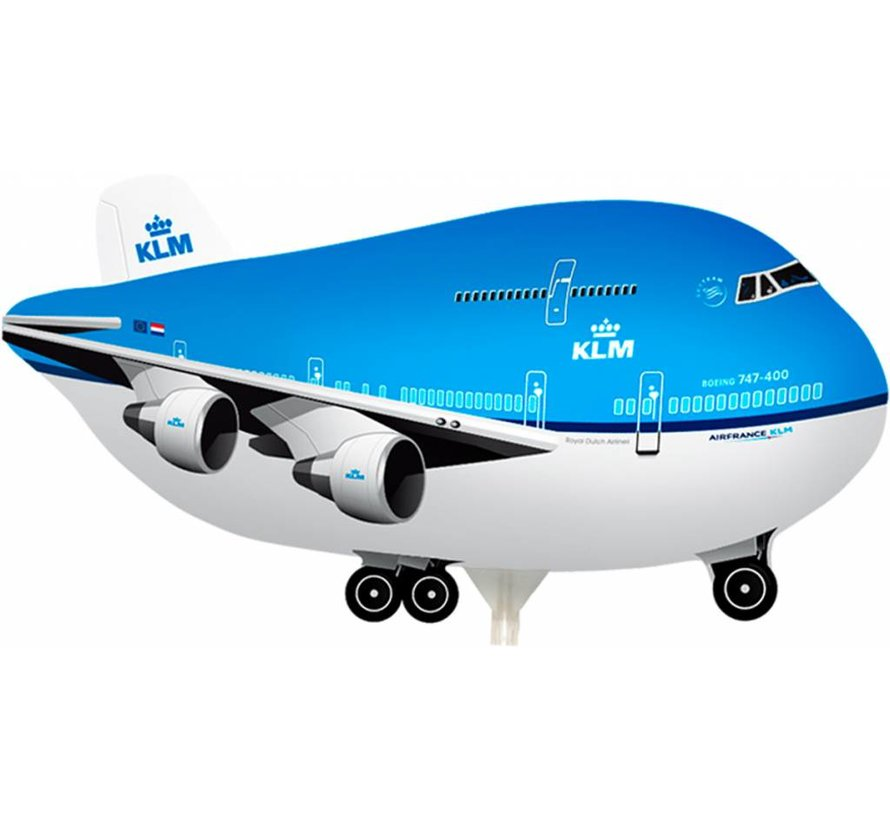 Folie Ballon KLM Boeing 747 - per stuk