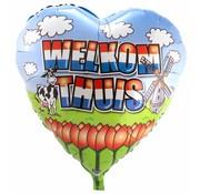 Folie Ballon Welkom Thuis Hart - 71cm
