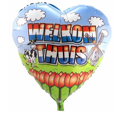 Folie Ballon Welkom Thuis Hart - per stuk