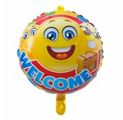 Folie Ballon Welcome Emoji - per stuk