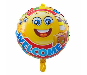 Folie Ballon Welcome Emoji 43cm - per stuk