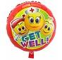 Folie Ballon Get Well Emoji 45cm - per stuk