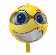 Folie Ballon Blije Emoji met Zonnebril - per stuk