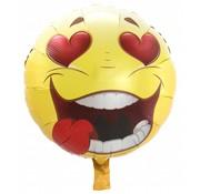 Folie Ballon Verliefde Emoji - per stuk