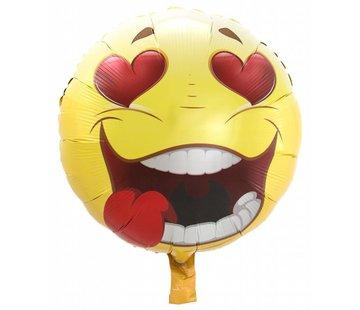 Folie Ballon Verliefde Emoji 43cm - per stuk