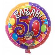 Folie Ballon Sarah 50 Jaar - per stuk