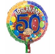 Folie Ballon Abraham 50 Jaar 43cm - per stuk
