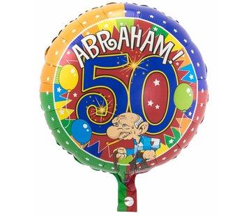 Folie Ballon Abraham 50 Jaar - per stuk