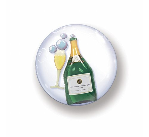 Folie Ballon Champagne Met Bubbels 61cm - Per Stuk
