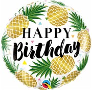 Folie Ballon Happy Birthday Pineapple - per stuk