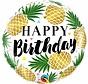 Folie Ballon Happy Birthday Pineapple 45cm - Per Stuk