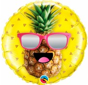 Folie Ballon Mr. Cool Pineapple 45cm - Per Stuk