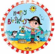 Folie Ballon Happy Birthday Pirate - per stuk