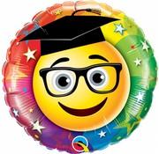 Folie Ballon Geslaagd Smiley - per stuk