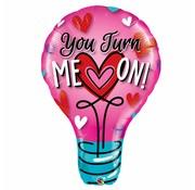 Folie Ballon You Turn Me On 102cm - Per Stuk