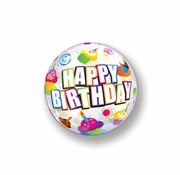 Folie Ballon Happy Birthday Cake - per stuk