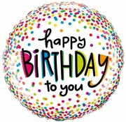 Folie Ballon Happy Birthday To You - per stuk