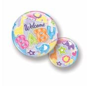 Folie Ballon Welcome Baby 56cm - Per Stuk