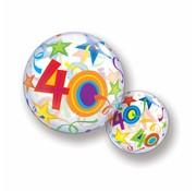 Folie Ballon 40 Jaar met Sterren - per stuk