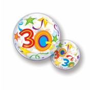 Folie Ballon 30 Jaar met Sterren - per stuk