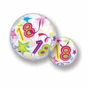 Folie Ballon 18 Jaar met Sterren - per stuk