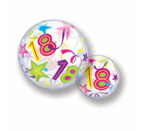 Folie Ballon 18 Jaar met Sterren 56cm - Per Stuk