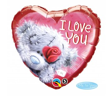 Folie Ballon Teddybeer I Love You 46cm - Per Stuk
