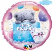 Folie Ballon Teddybeer Happy Birthday - per stuk