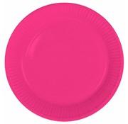 Wegwerp Bordjes Roze - 8 stuks